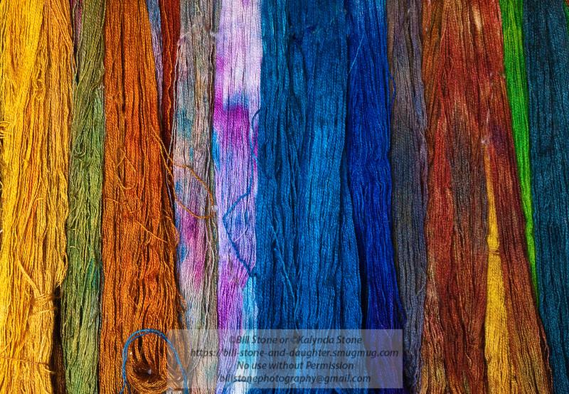 Hand dyed, hand spun wool yarn. Lambtown USA a wool and yarn show in Dixon, CA. Photo-a-Day 10/1/2011 Bill Stone.