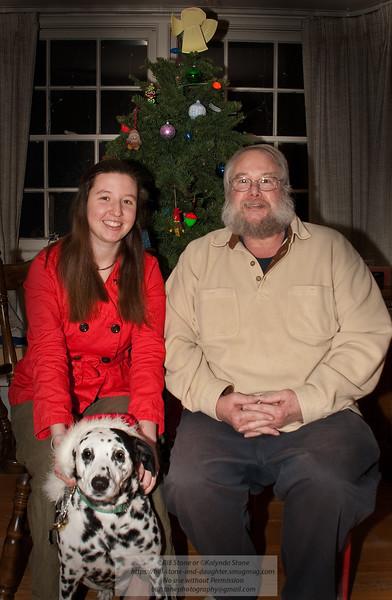 Merry Christmas from Bill, Kalynda and Daisy - Photo-a-Day 12/23/2011 Bill Stone