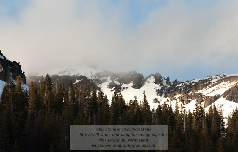 1/16/11 Clouds over peak near Donner Summit