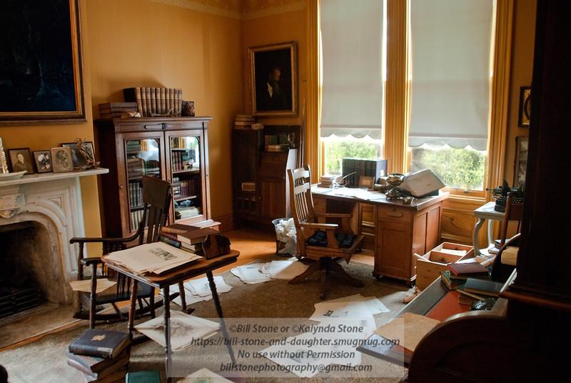 John Muir Study (official name is the Scribble Den)-John Muir House-Martinez California-recreated but desk is original. Photo-a-Day 3/26/2011 Bill Stone