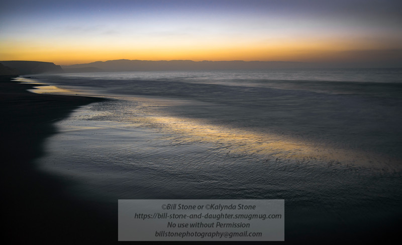Sunrise Drakes Beach - Point Reyes National Seashore<br /> 10/9/2015 Bill Stone