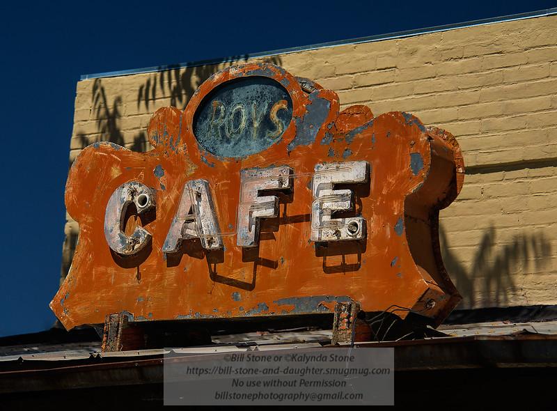 Roy's Cafe Sign - Hornitos, California<br /> Photo-a-Day 6/11/2015 Bill Stone