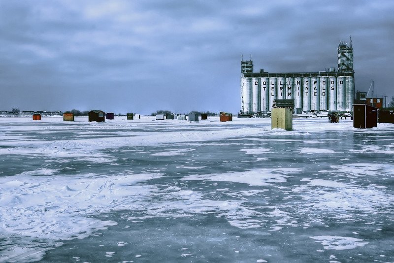 Ice Fishing in Collingwood Harbour
