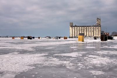 Ice Fishing in Collingwood Harbour - Take #2