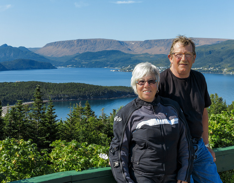 Newfoundland Trip #47 - Di and Bob at Norris Point