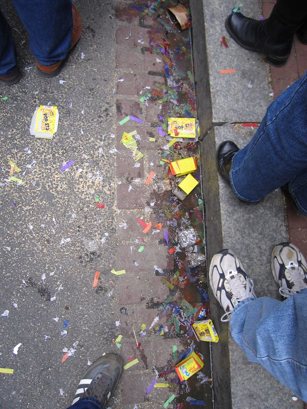 evidence of the day's celebrations