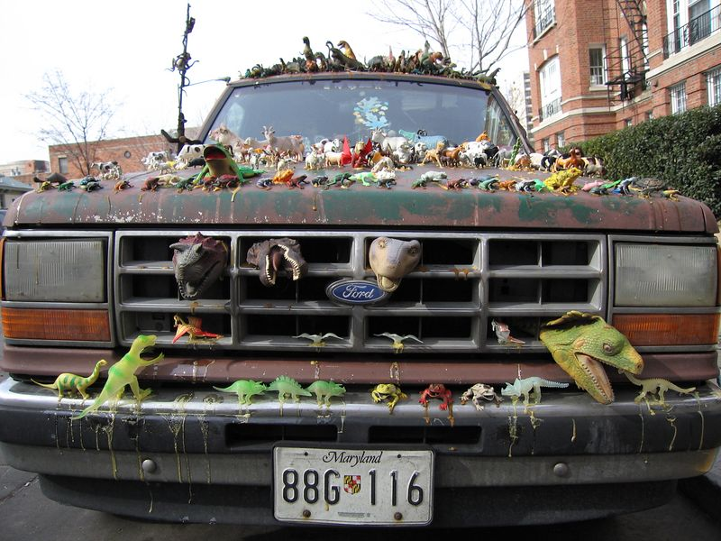animal truck on outside my apartment on T Street NW