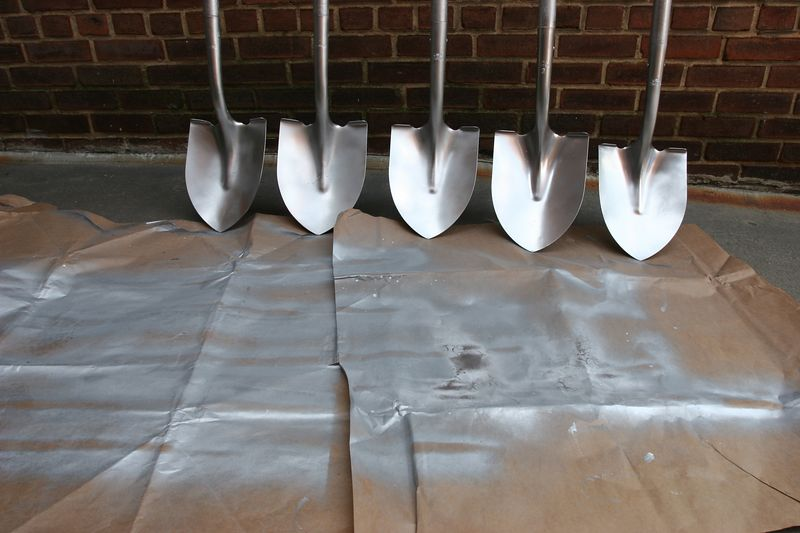 the shovels will be used in a ground-breaking ceremony this week for Community of Hope's new housomg for homeless families in SE DC