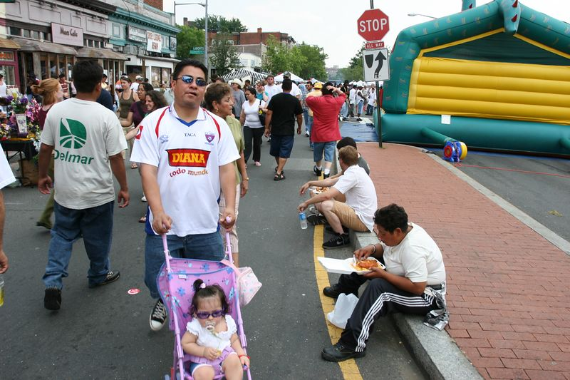 strolling and eating were among the top activities along mount pleasant street