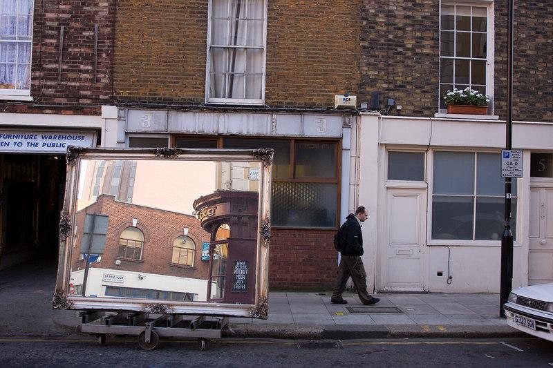 furniture shop on Kings Cross Road, North London