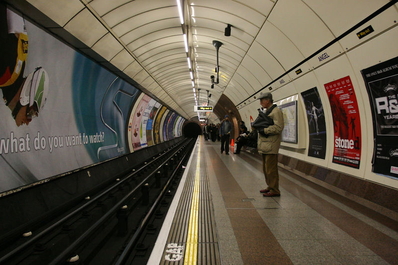 Angel tube station, London