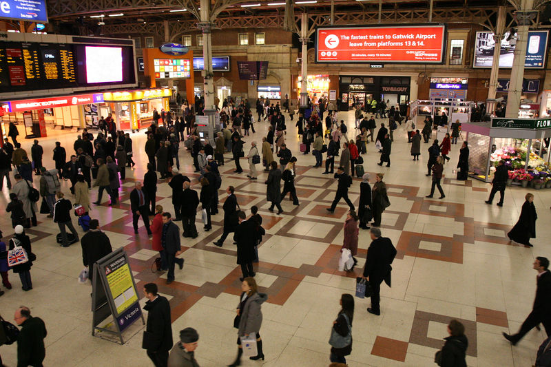 the concourse at Victoria station, London