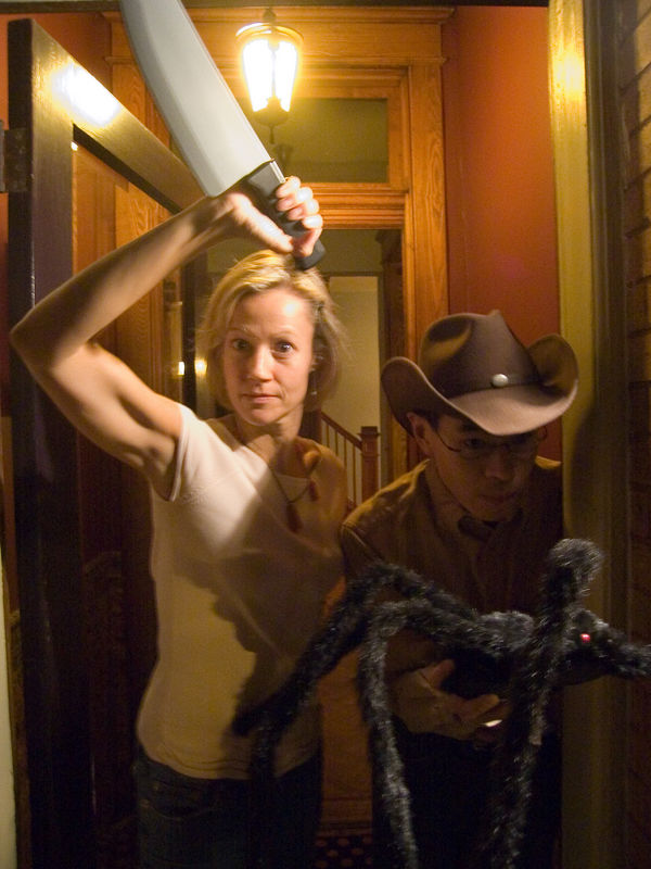 Pyscho Laura and Arachnophile Cowboy Jason make a formidable team