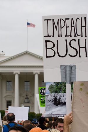 anti-war protesters march past the White House, Washington DC