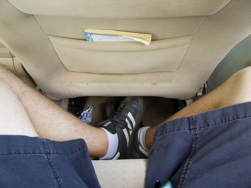 me in the back of adam's car