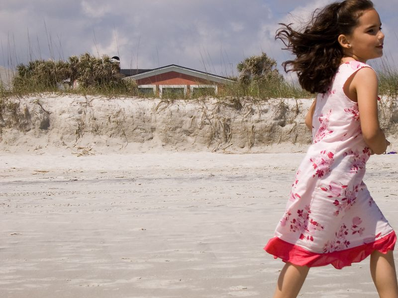 my goddaughter Maya on Atlantic beach in Jacksonville