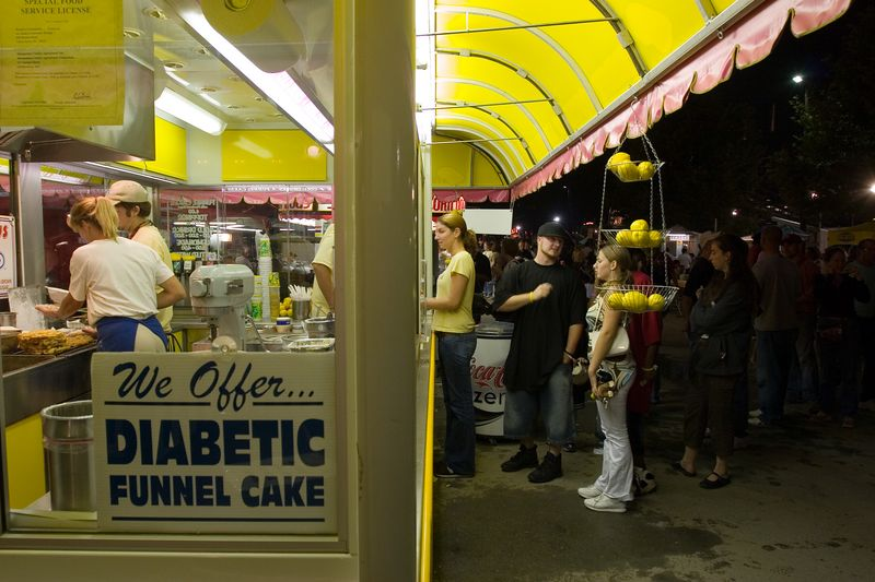 does this mean the funnel cake gives you diabetes?