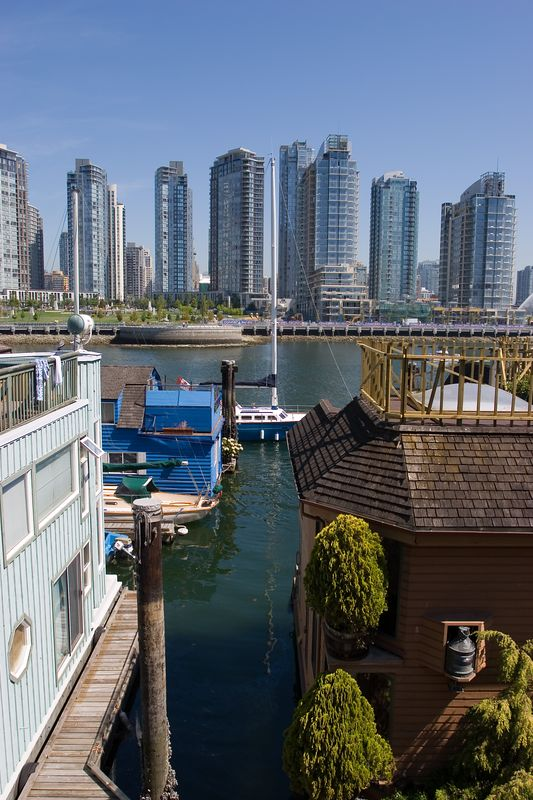 houseboats at Granville Island, Vancouver
