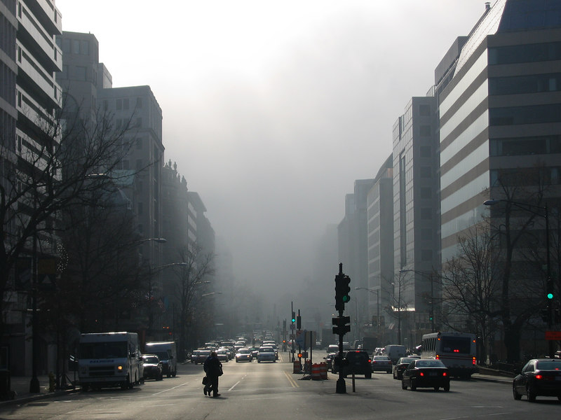 K street goes up in... fog