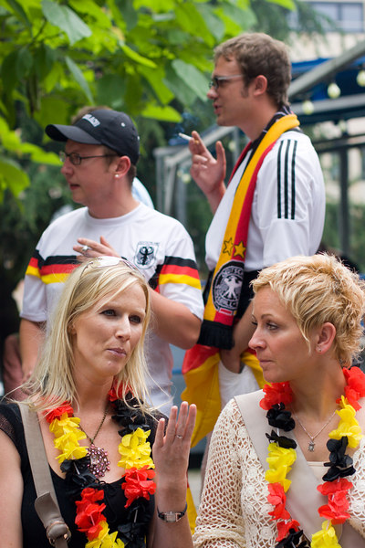 German national team shirts were also well represented!