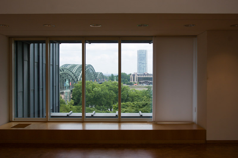 View of Köln from inside the Museum Ludwig.