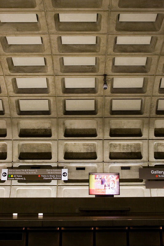 under surveillance at gallery place metro station