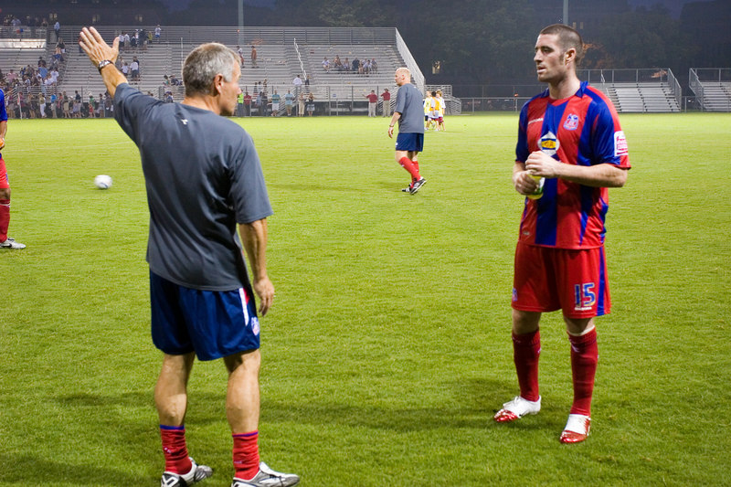 Peter Taylor does a post-mortem with Mark Kennedy shortly after the final whistle.
