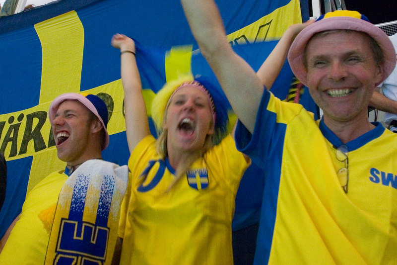 Happy Swedes.