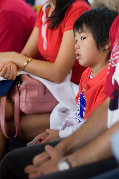 This little South Korean fan's expression didn't change throughout the entire game against Switzerland.  I think he knew from the start that his team was doomed.