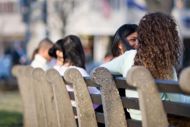 bench conversation