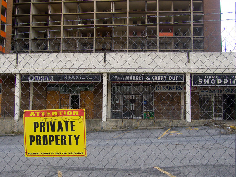 the HUD foreclosed Capitol View Plaza II complex, 5800 block of East Capitol St