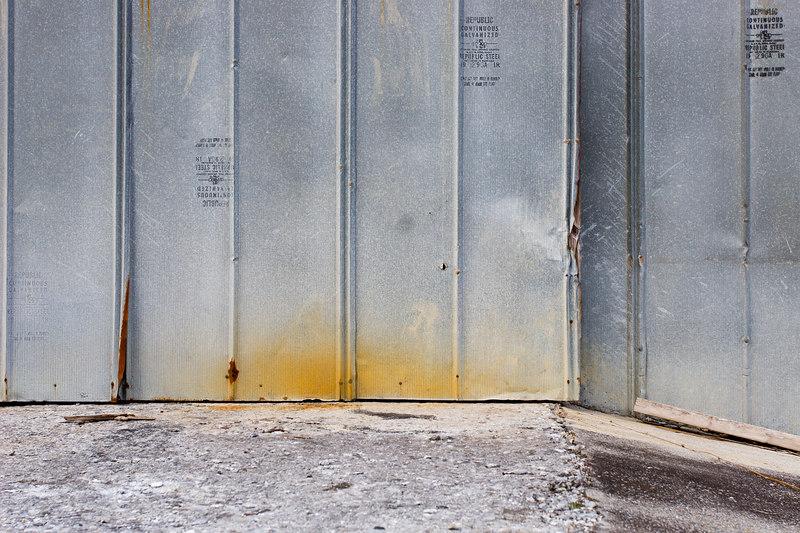 rusty building, Old Buena Vista Road, Lexington VA