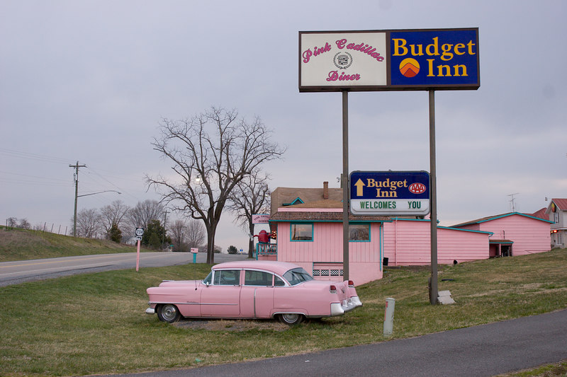 The Pink Cadillac Diner on Virginia Route 11, near Natural Bridge.