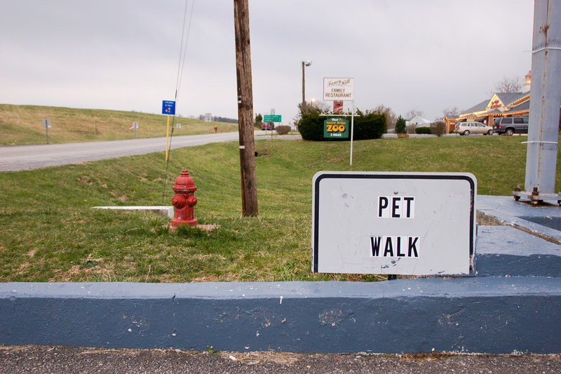 An ideal place for a pet walk, next to the highway, Zoo and Family Restaurant.