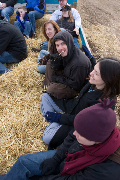 tim sampling the hayride