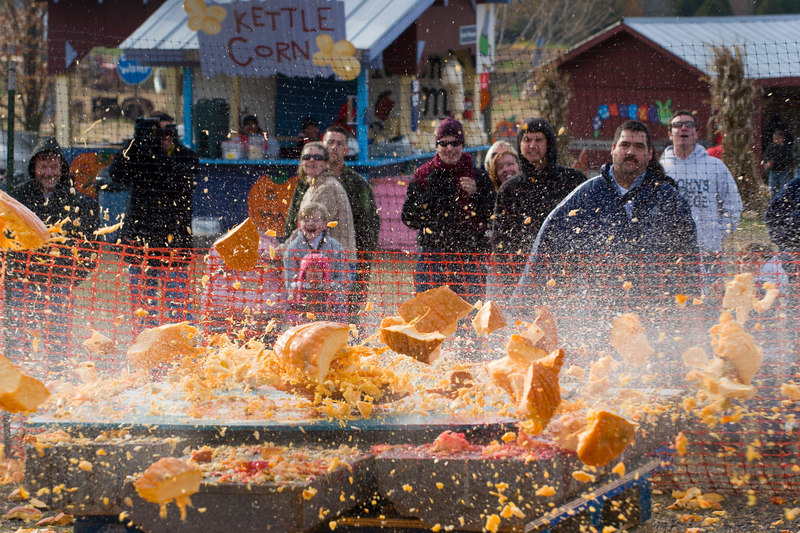 pumpkin smashing was of course one of the major attractions