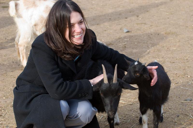 kim, the goat whisperer