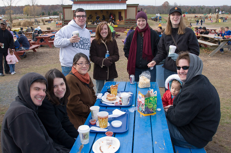 a chilly autumn day for this year's visit to the Cox Farms pumpkin madness weekend