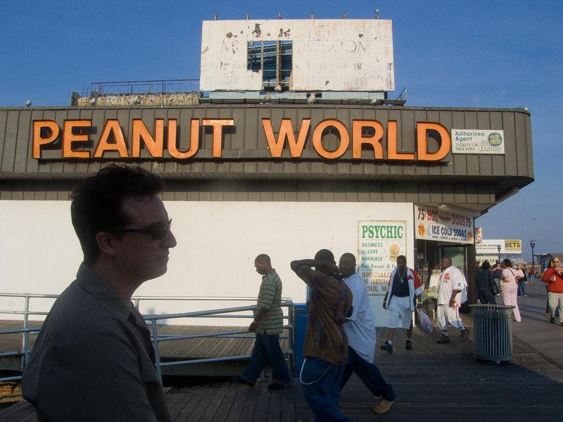 mike contemplating peanut world.