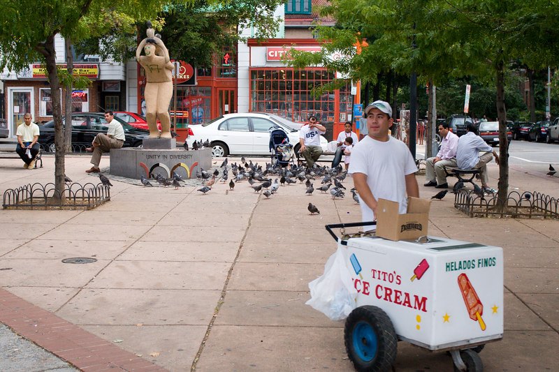 Tito's ice cream, Columbia Rd NW and Euclid St NW, Adams Morgan