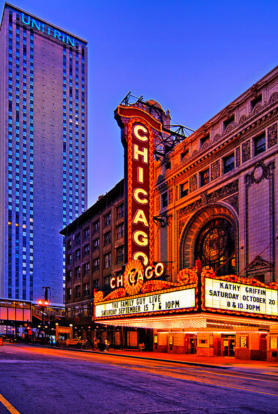 """The Chicago Theatre, originally known as the Balaban and Katz Chicago Theatre, is a landmark theater located on North State Street in the Loop area of Chicago, Illinois. Built in 1921, the Chicago Theatre was the flagship for the Balaban and Katz (B&K) group of theaters run by A. J. Balaban.<br /> The building was added to the National Register of Historic Places on June 6, 1979, and it was listed as a Chicago Landmark on January 28, 1983. The iconic Chicago Theatre marquee, """"as an unofficial emblem of the city"""", appears in film, television, artwork, and photography. On April 1, 2004 the building was purchased by TheatreDreams Chicago, LLC for $3 million."""