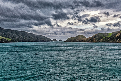 On the way from North to South New Zealand island