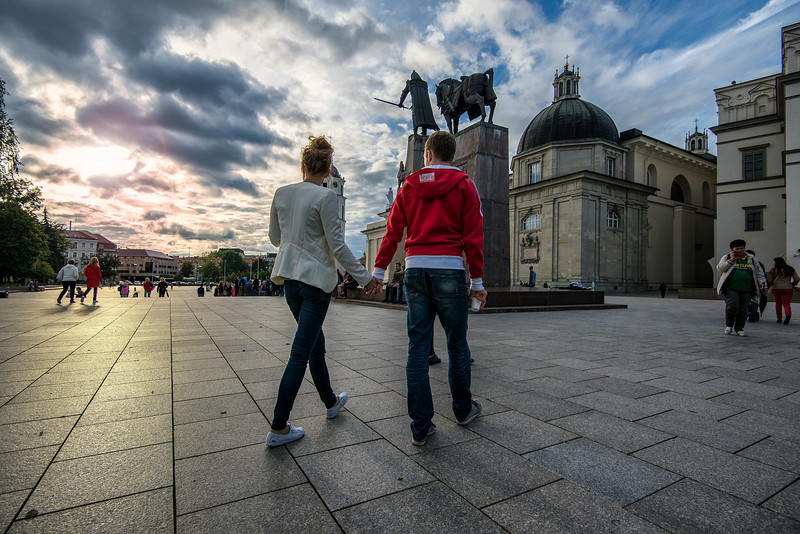 Josh and Julia Love story. Visiting Lithuania.