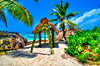 Wedding chapel in Seychelles, La Digue Island, Anse d'Argent
