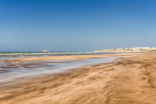 Empty Muscat beaches