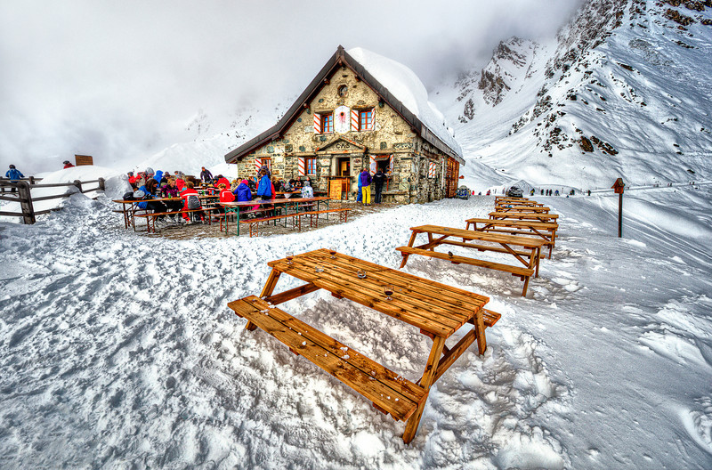French style restaurant in Suisse clouds. 3000 m.