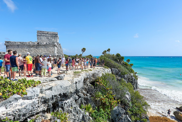 Tulum. Maya ruins. Looking for the energies.