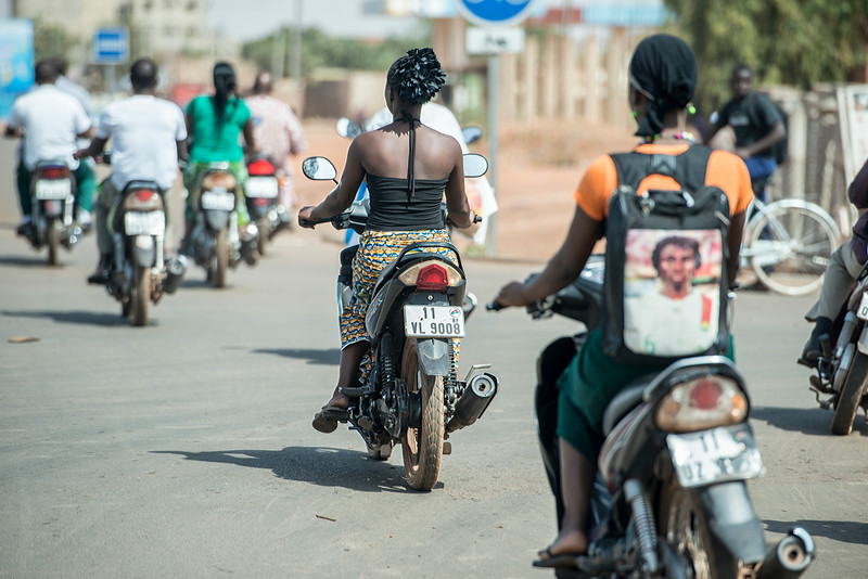 Streets of Ouagadougou, capital of Burkina Faso.