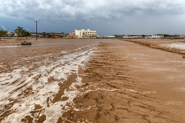 End of the road. Flood in Oman. Waiting to get through.