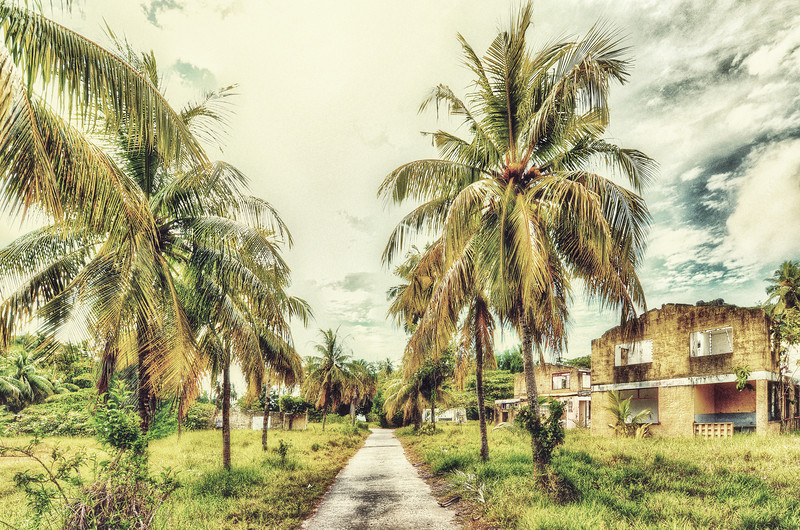 Old boys and girls ghetto in Baie Ternay. Seychelles